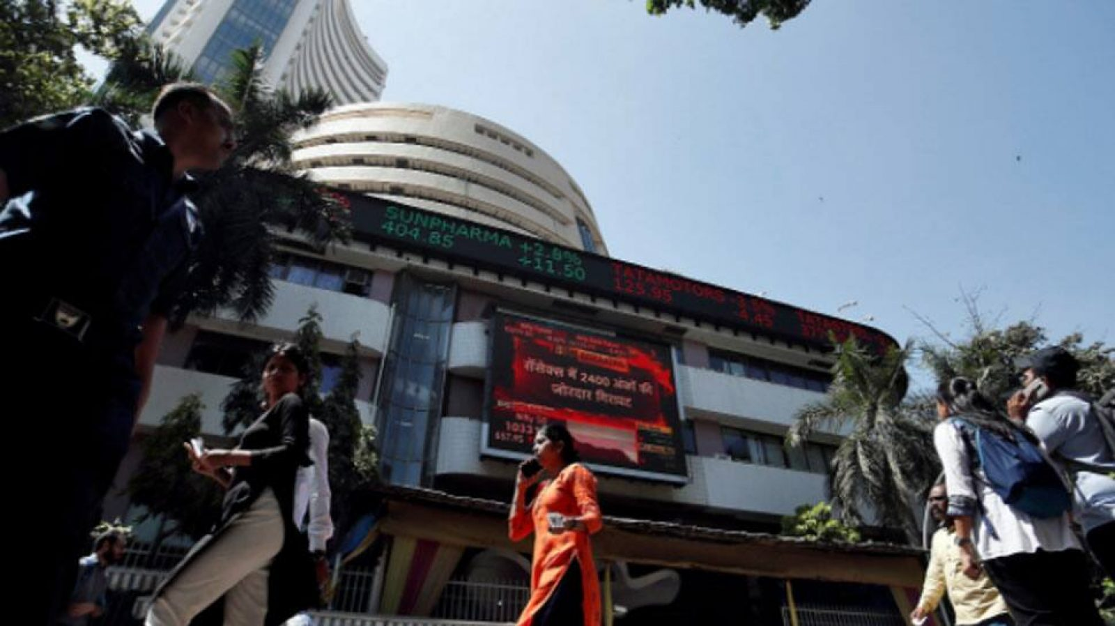 Sensex soars 460 points in late morning trade, Nifty rises above 11,800